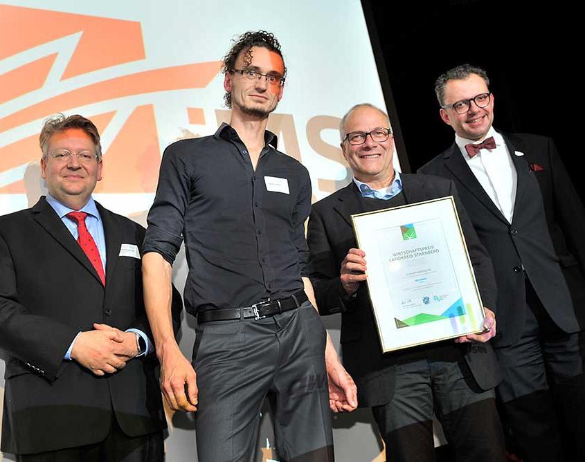 ims am 22. November 2019 als Finalist um den Wirtschaftspreis des Landkreises Starnberg ausgezeichnet